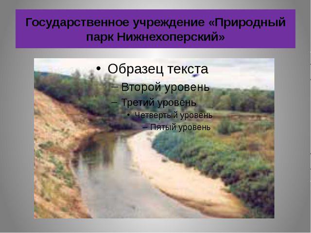 Государственное учреждение «Природный парк Нижнехоперский»