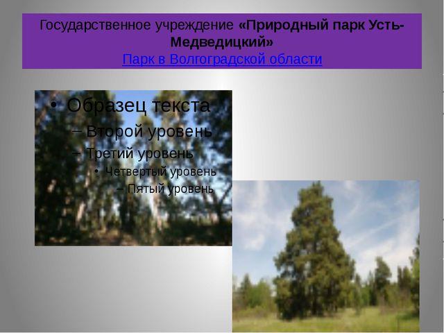 Государственное учреждение «Природный парк Усть-Медведицкий» Парк в Волгоград...
