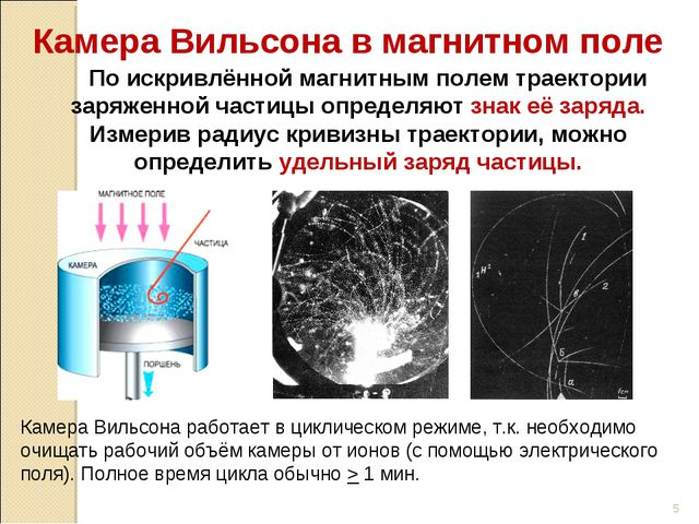 По искривлённой магнитным полем траектории заряженной частицы определяют зна...