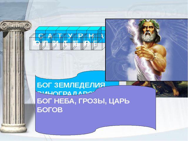 БОГ ЗЕМЛЕДЕЛИЯ, ВИНОГРАДАРСТВА БОГ НЕБА, ГРОЗЫ, ЦАРЬ БОГОВ Н У Р Т И С А С А...