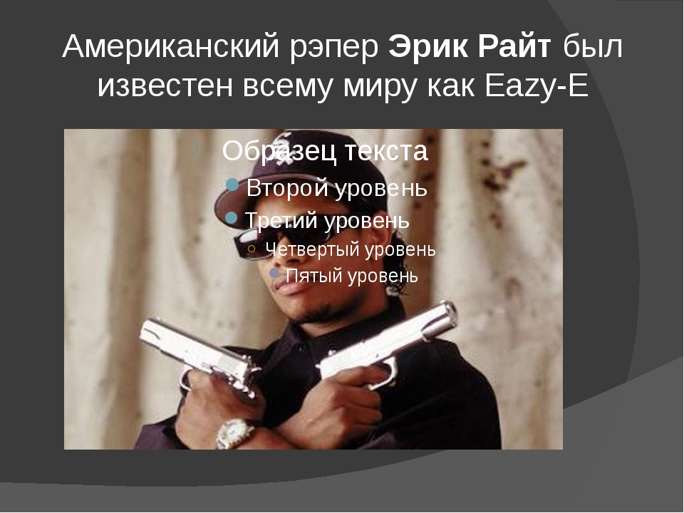 Американский рэперЭрик Райтбыл известен всему миру как Eazy-E