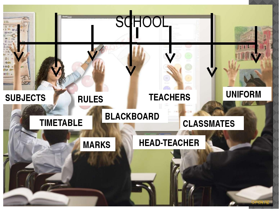 SCHOOL SUBJECTS RULES UNIFORM TIMETABLE TEACHERS CLASSMATES BLACKBOARD MARKS...