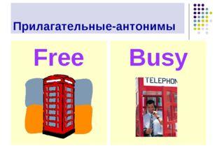 Прилагательные-антонимы Busy Free