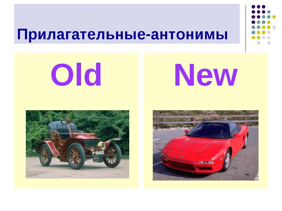 Прилагательные-антонимы Old New