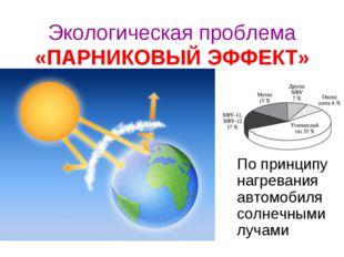 Экологическая проблема «ПАРНИКОВЫЙ ЭФФЕКТ» По принципу нагревания автомобиля