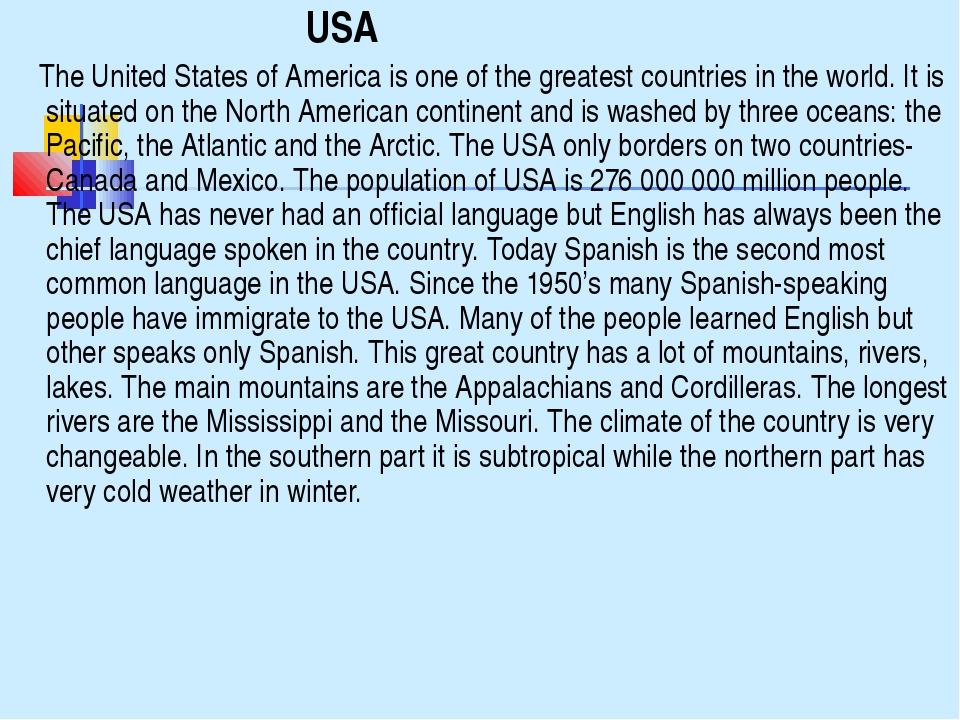 USA The United States of America is one of the greatest countries in the w...