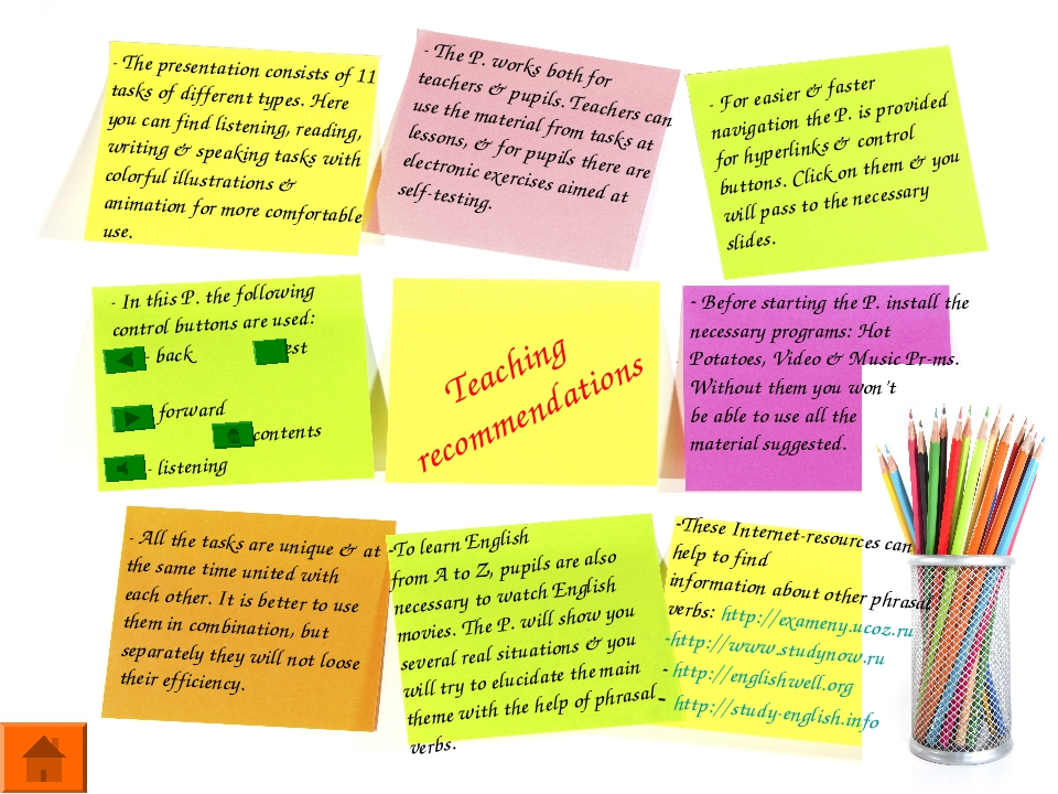 Teaching recommendations - The presentation consists of 11 tasks of different...