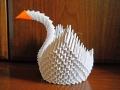 Делаем лебедя оригами-8