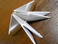 Делаем лебедя оригами-11