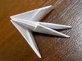 Делаем лебедя оригами-10