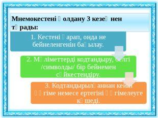 Мнемокестені қолдану 3 кезеңнен тұрады: