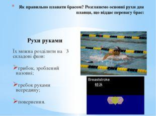 Як правильно плавати брасом? Розглянемо основні рухи для плавця, що віддає пе