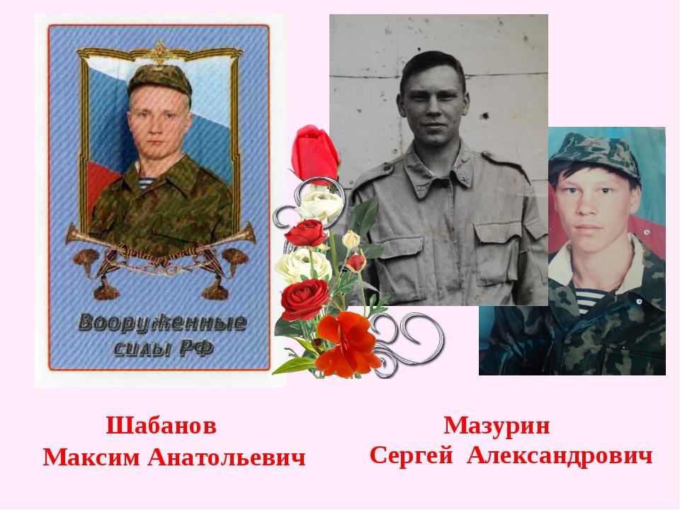 Шабанов Максим Анатольевич Мазурин Сергей Александрович