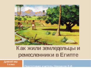 Как жили земледельцы и ремесленники в Египте Подготовил учитель Некрасов В.И.