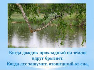Когда дождик прохладный на землю вдруг брызнет, Когда лес зашумит, отошедший