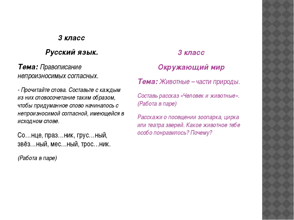3 класс Русский язык. Тема: Правописание непроизносимых согласных. - Прочитай...