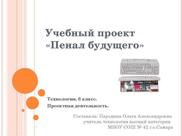 Учебный проект «Пенал будущего» Технология. 6 класс. Проектная деятельность....