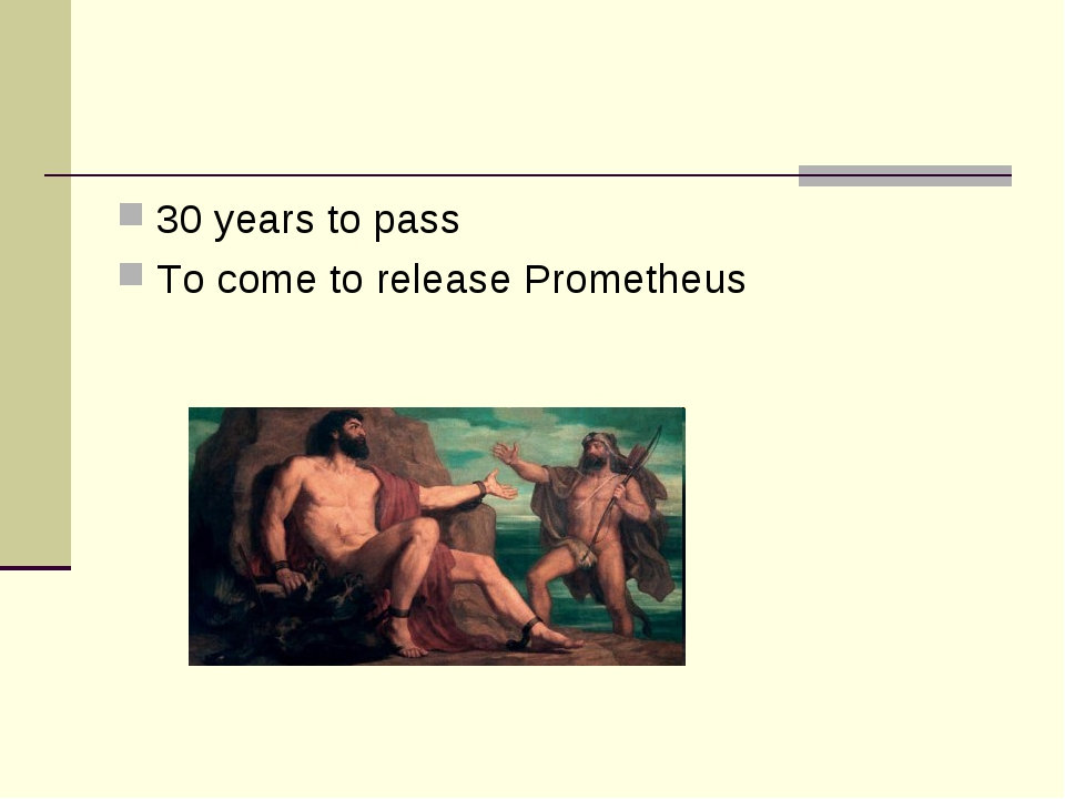 30 years to pass To come to release Prometheus