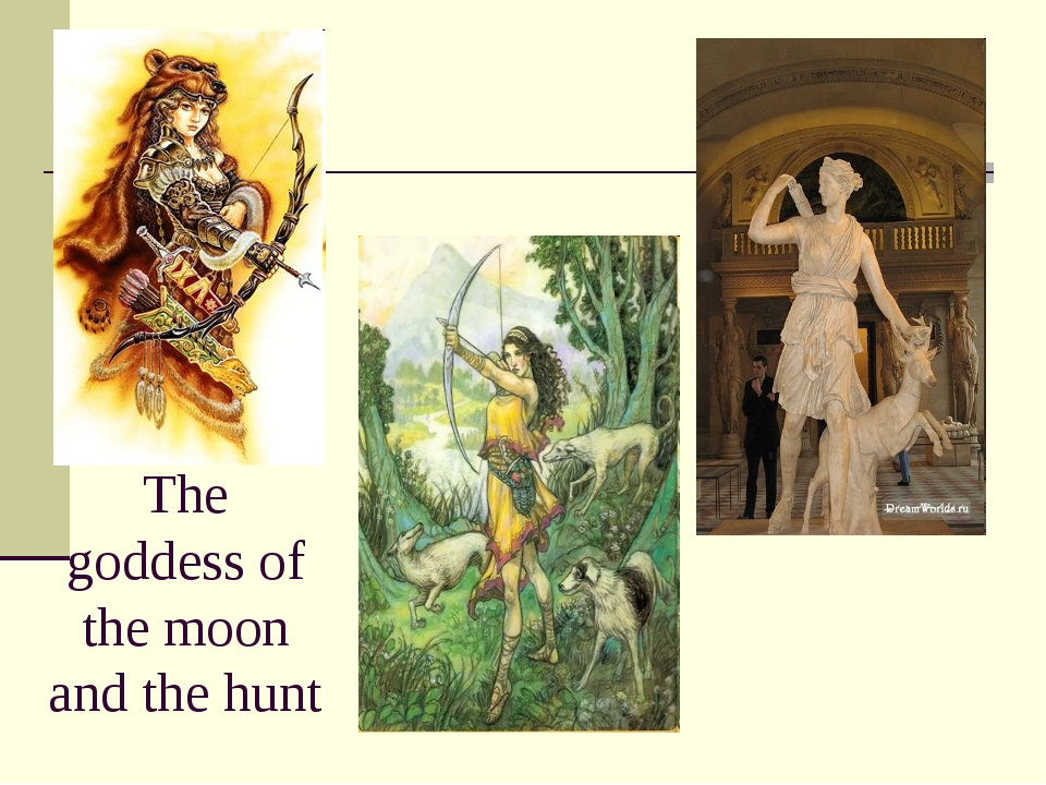 The goddess of the moon and the hunt