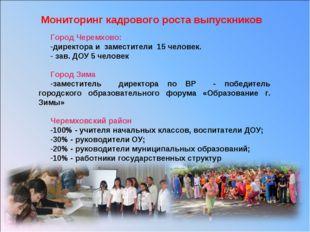 Город Черемхово: директора и заместители 15 человек. зав. ДОУ 5 человек Город