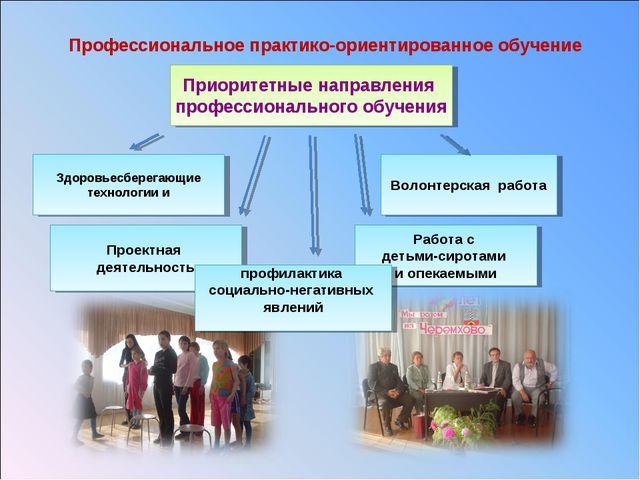 Профессиональное практико-ориентированное обучение Приоритетные направления п...
