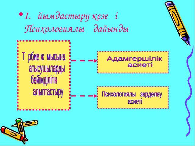І.Ұйымдастыру кезеңі Психологиялық дайындық