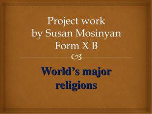 World's major religions