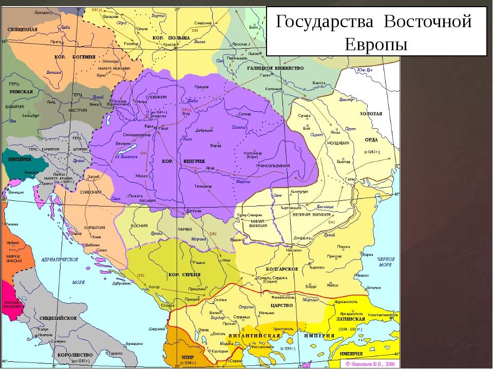 Государства Восточной Европы