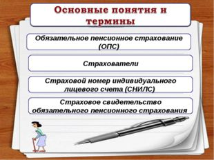 Обязательное пенсионное страхование (ОПС) Страхователи Страховой номер индиви