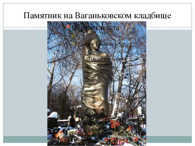 Памятник на Ваганьковскомкладбище