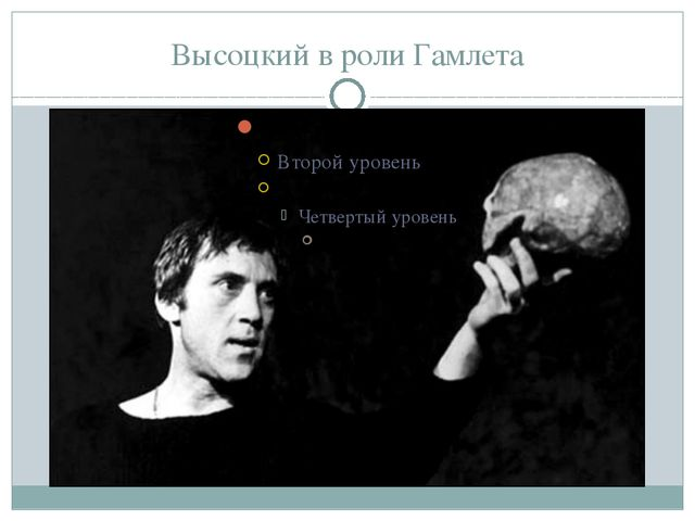 Высоцкий в роли Гамлета