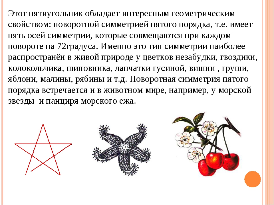 Этот пятиугольник обладает интересным геометрическим свойством: поворотной си...
