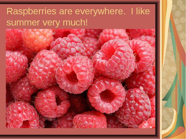 Raspberries are everywhere. I like summer very much!