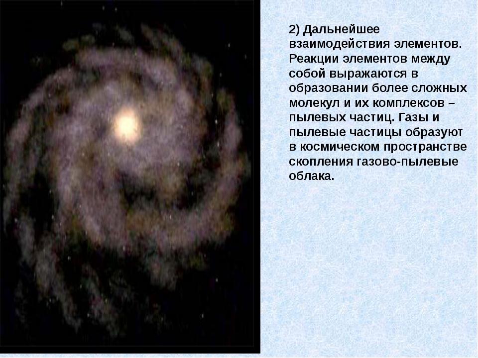2) Дальнейшее взаимодействия элементов. Реакции элементов между собой выражаю...