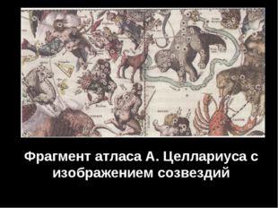 Фрагмент атласа А. Целлариуса с изображением созвездий