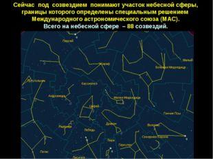 Сейчас под созвездием понимаютучастокнебеснойсферы, границыкоторогоопре