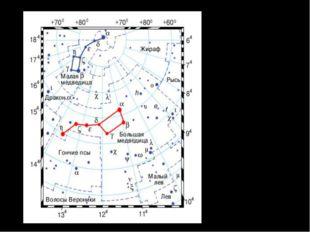 Созвездие Большой Медведицы. Семь ярких звезд этого созвездия составляют Боль