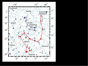 Созвездие Дракона. Околополярное созвездие. Наилучшие условия видимости в мар