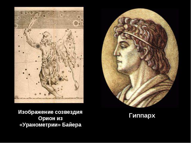 Гиппарх Изображение созвездия Орион из «Уранометрии» Байера