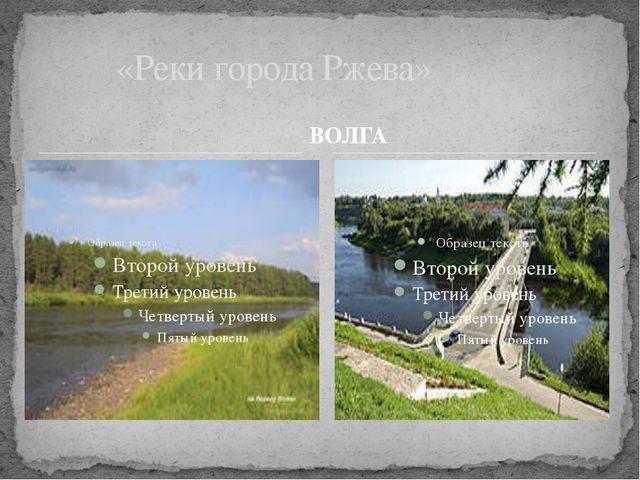 ВОЛГА «Реки города Ржева»