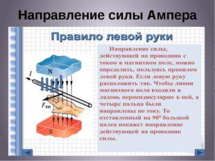 Направление силы Ампера
