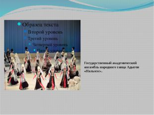 Государственный академический ансамбль народного танца Адыгеи «Нальмэс».