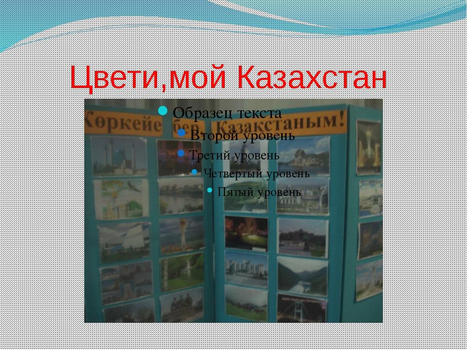 Цвети,мой Казахстан