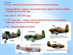 Техника И-153- начальный период Великой Отечественной войны Hurricane Mk II