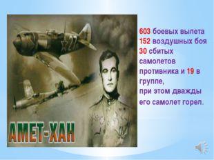 603 боевых вылета 152 воздушных боя 30 сбитых самолетов противника и 19 в гру