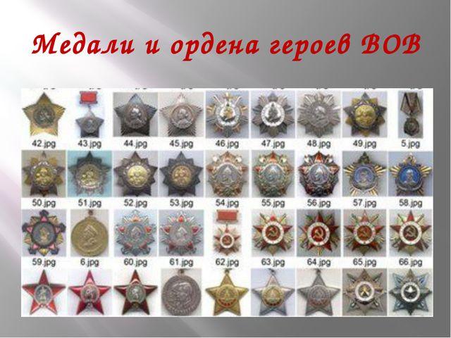 Медали и ордена героев ВОВ