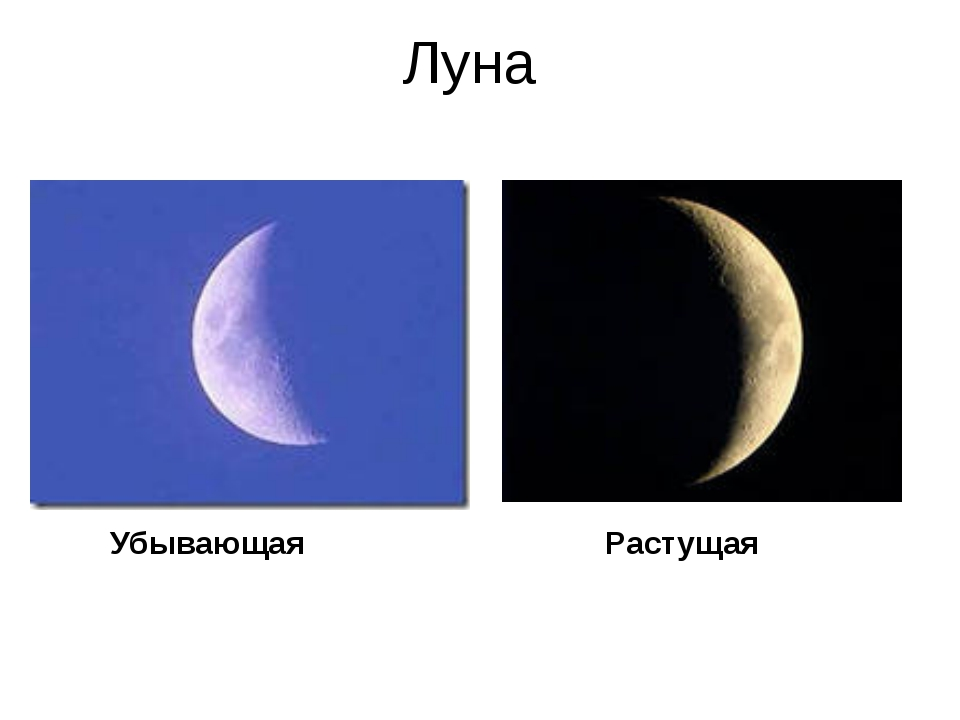 какая луна завтра возрастающая либо убывающая