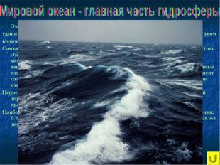 Океан занимает почти ¾ поверхности нашей планеты. Вода – одно из самых удиви