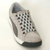 двухцветная шнуровка ботинок шахматная доска