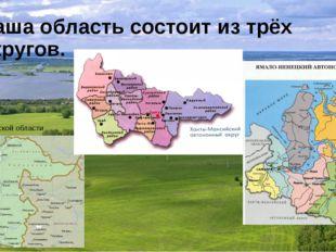 Наша область состоит из трёх округов. Юг Тюменской области